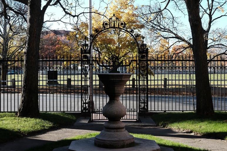A Sun Dial in Harvard University