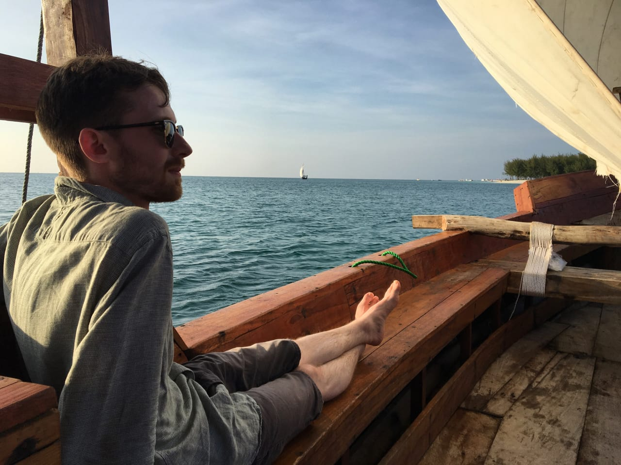 Chilling on a Dhow